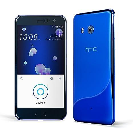 HTC U11 Factory Unlocked Phone with hands-free Amazon Alexa, Sapphire Blue
