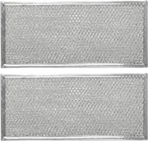 Primeswift Lightweight Microwave Grease Filter W10208631A with Aluminum Mesh (2 PK Packed in Box),Replacement for 2304686,AH3650910