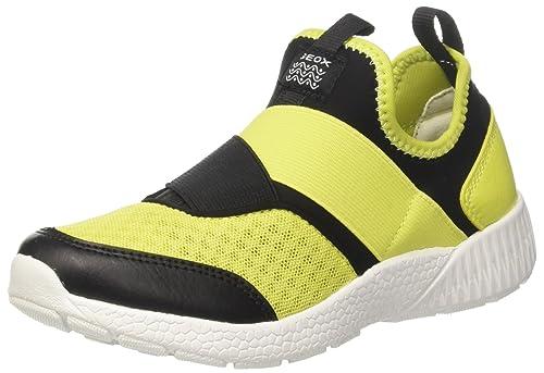 C J Geox, Chaussures Pour Enfants, Jaune (citron Vert / Noir), 26 Eu