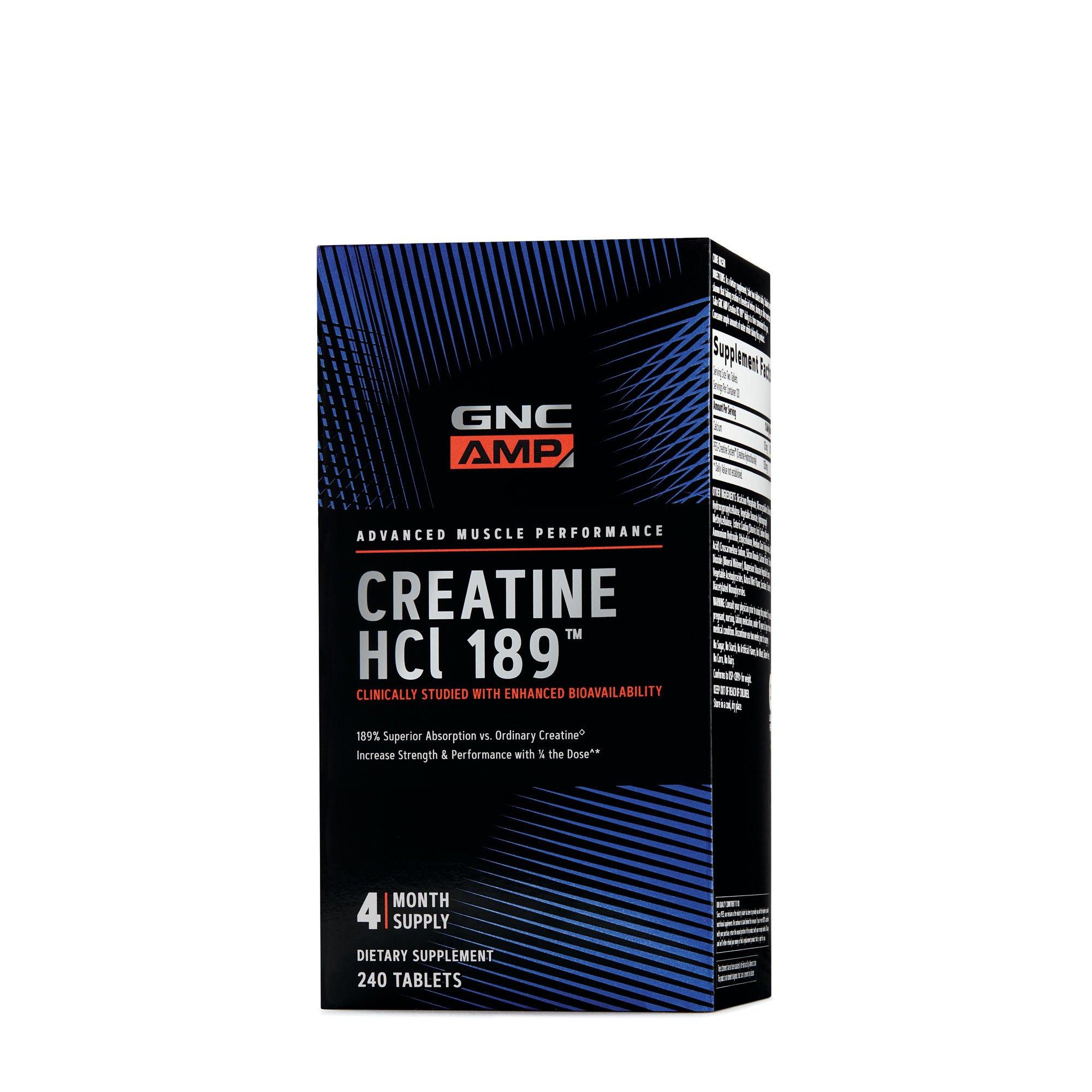 GNC AMP HCl 189, 240 Tablets