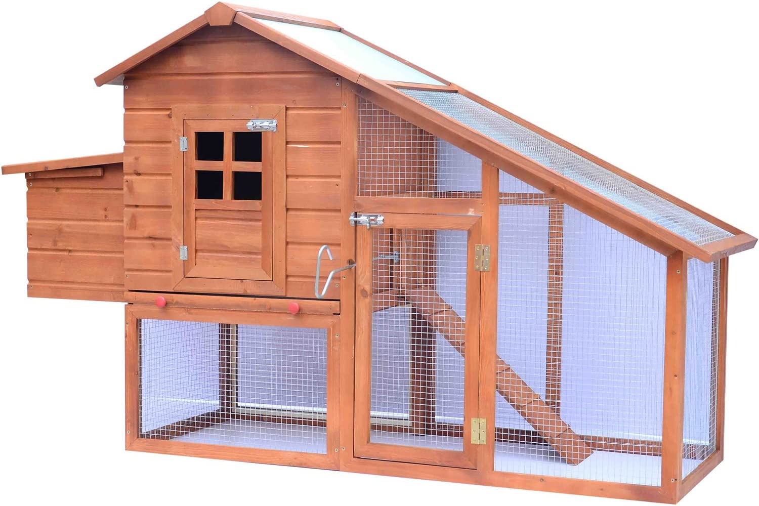 Pawhut Backyard Wooden Chicken Coop Hen House Garden Nesting Box Backyard Wooden