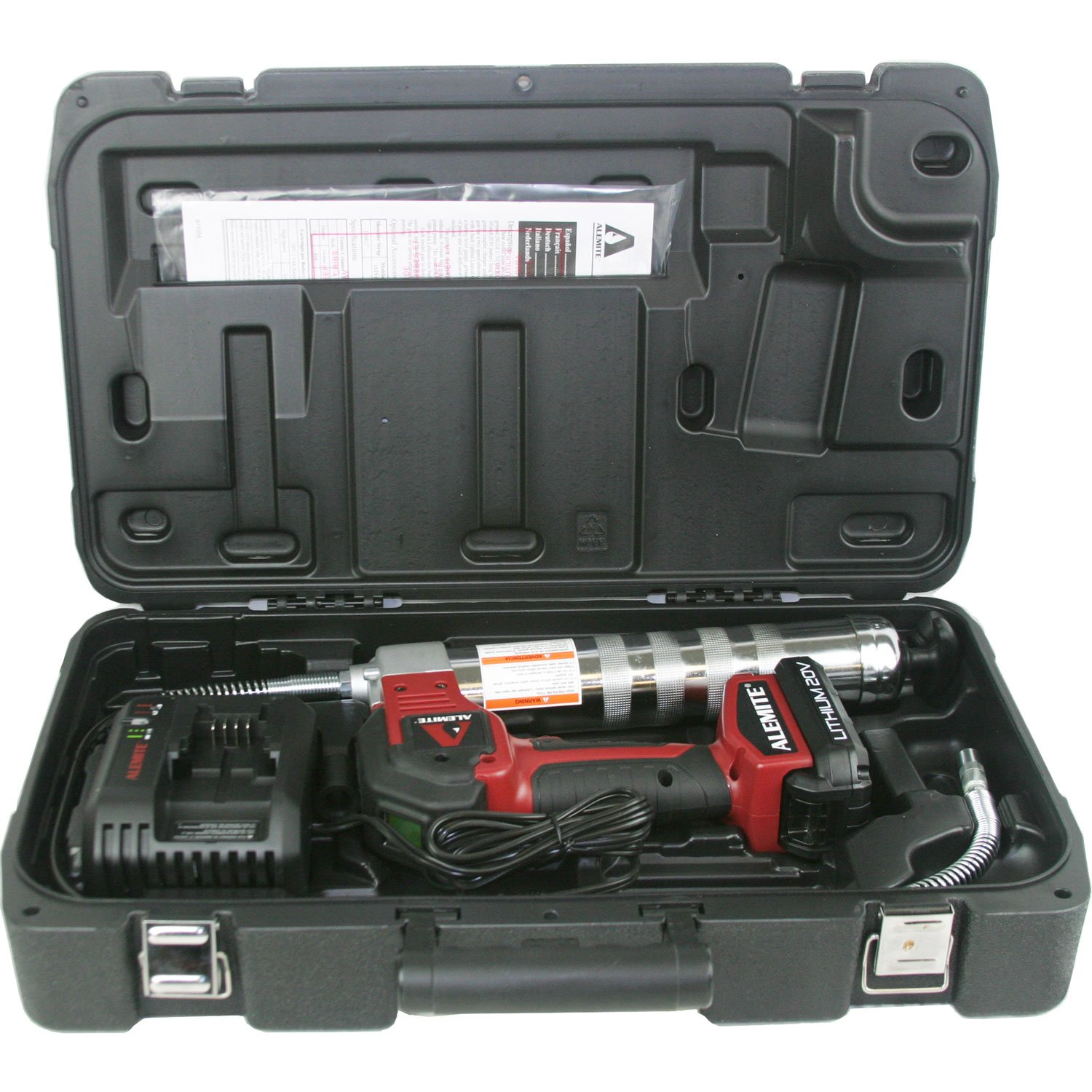 Alemite 596-A 20-Volt Lithium-Ion Cordless Grease Gun Kit with LCD Display by Alemite