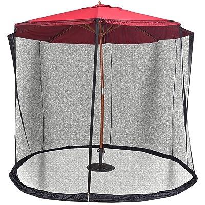 Lana45 Enjoy Outdoor Need 9/10FT Outdoor Umbrella Table Screen Mosquito Bug Insect Net Mesh Garden : Garden & Outdoor