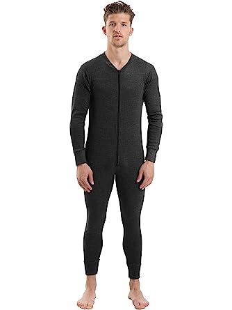 2COZEE Mens Thermal Underwear Long Sleeve All In One Onesie ...