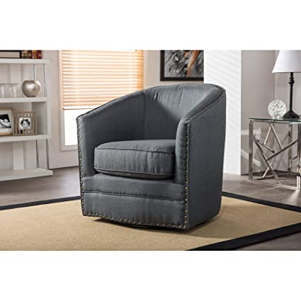Fine Wholesale Interiors Porter Classic Retro Fabric Upholstered Swivel Tub Chair Grey Camellatalisay Diy Chair Ideas Camellatalisaycom