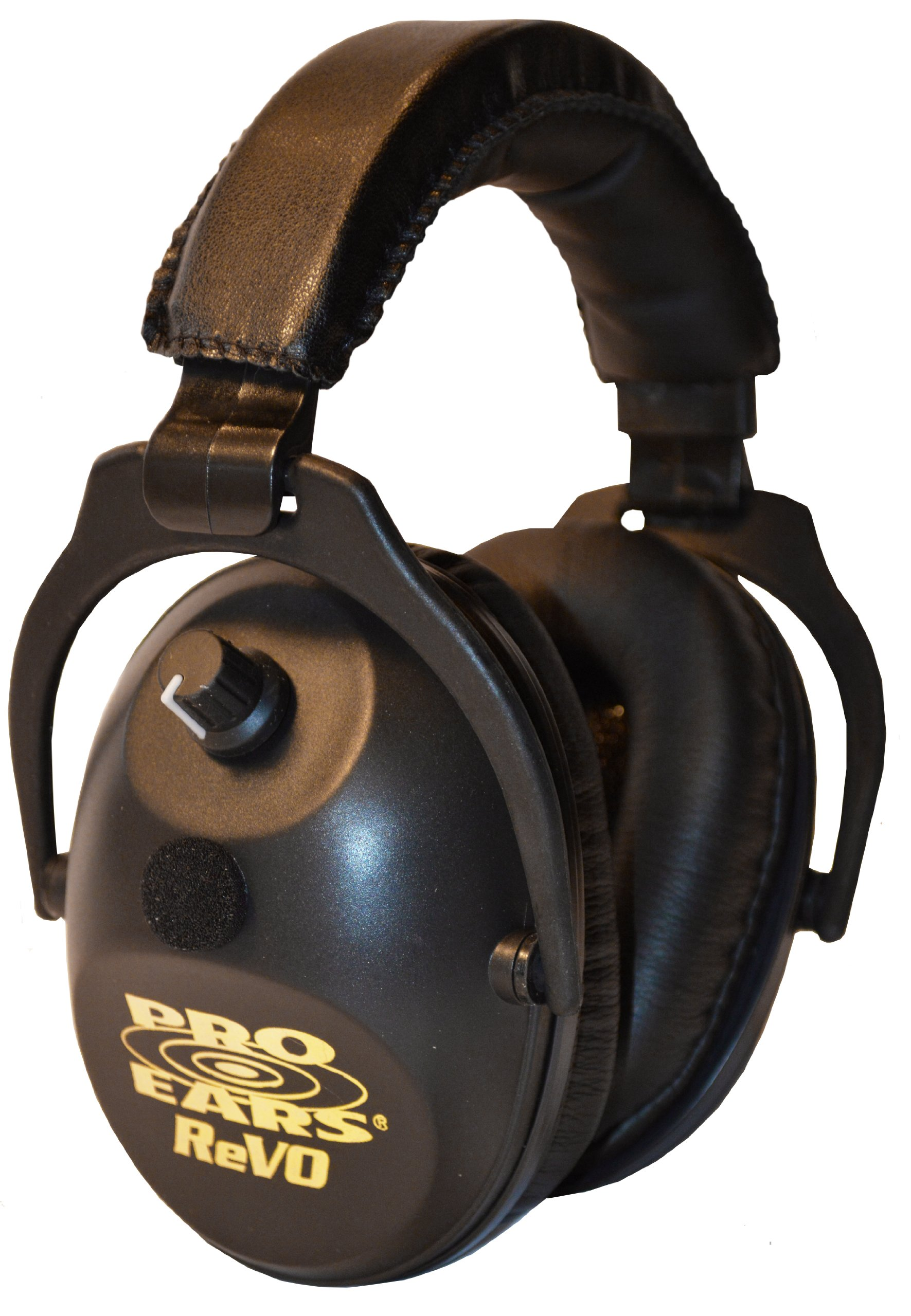 Pro Ears - ReVO - Electronic Hearing Protection and Amplification - NRR 25 - Youth and Women Ear Muffs Ear Muffs - Black