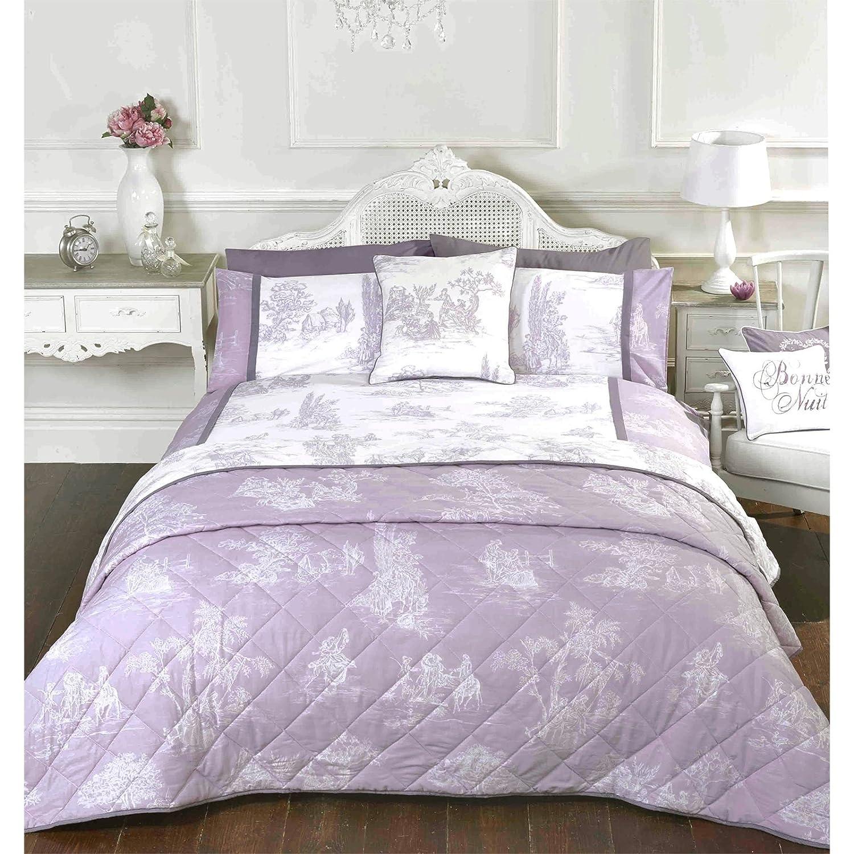 Just Contempo Toile De Jouy Duvet Cover King Purple Amazon