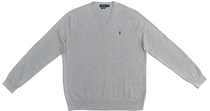 Polo Ralph Lauren para hombre, jersey de manga larga gris luminoso ...