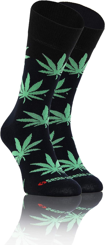 Sesto Senso Calcetines Divertidos Algodón Mujer Hombre Locos Coloridos Funny Socks