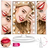 Amazon Com Travel Makeup Mirror With Led Lights Beauty