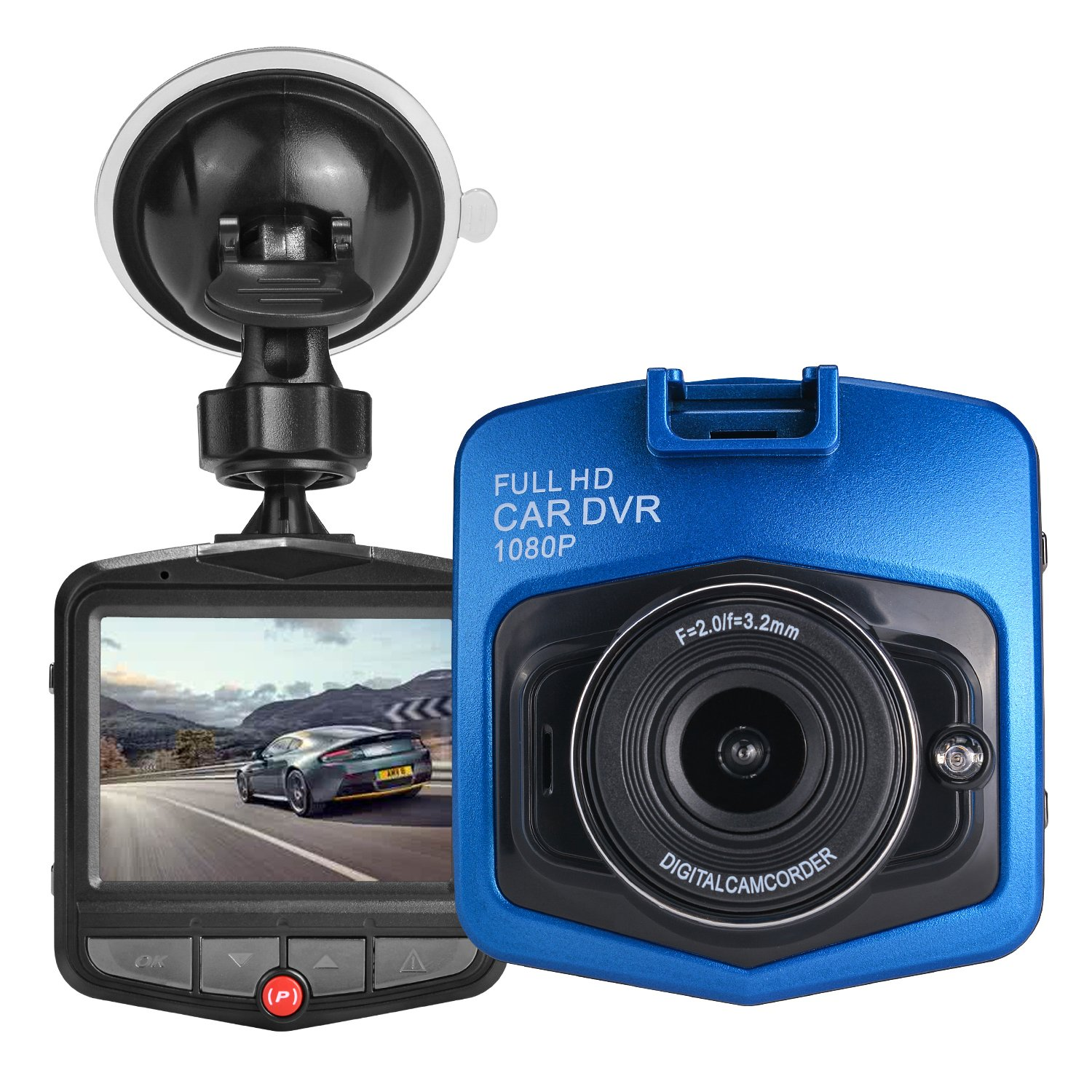 HK Dash Cam for Cars with Night Vision + Parking Mode G-sensor DVR Vehicle Camera Recorder 2.4\' Full HD 1080P GT300