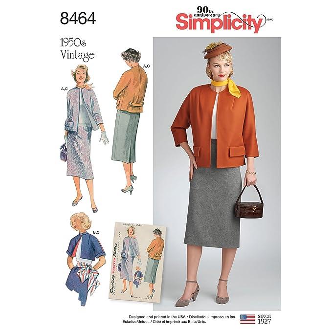 1950s Sewing Patterns | Dresses, Skirts, Tops, Mens Simplicity Vintage US8464H5 Sewing Pattern Sportswear $8.73 AT vintagedancer.com