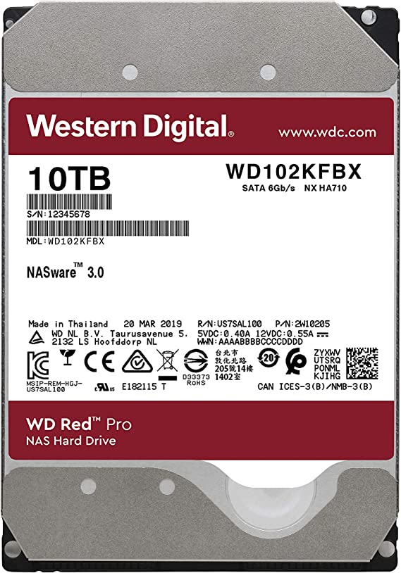 Wd Red Pro Nas Hard Disk Drive 10tb 256mb 7200rpm Sata V2 3 5 Amazon Sg Electronics