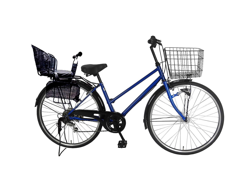 上品 Lupinusルピナス 自転車 26インチ LP-266TA-knr-b 26インチ ブルー シティサイクル シマノ製外装6段ギア オートライト LP-266TA-knr-b 後子乗せブラック (ブルー) ブルー B0797RC8WK, Pavilion7320:7156720b --- greaterbayx.co