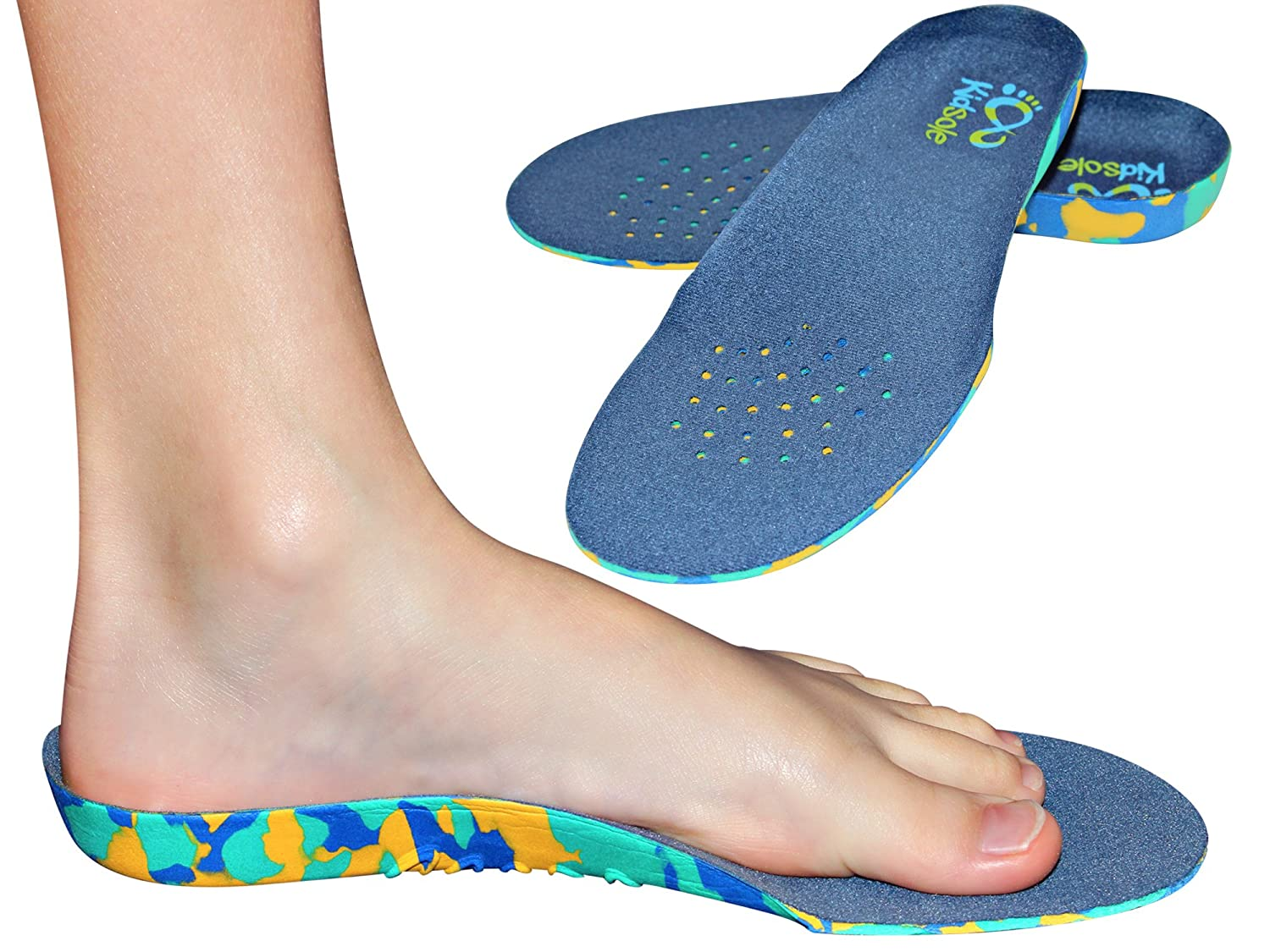 Amazon.com: Childrens Insoles for Kids with Flat Feet Who Need Arch ...
