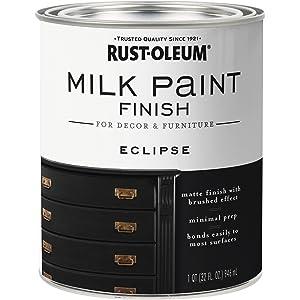 Rust-Oleum 331052 Finish Milk Paint, 1- Quart, Eclipse