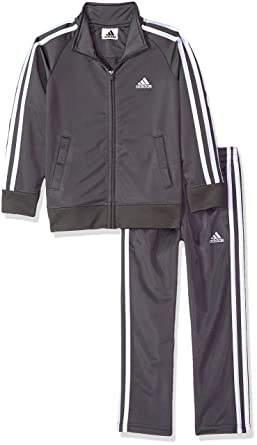4bea27f98 Amazon.com  adidas Boys  Tricot Jacket and Pant Set  Clothing