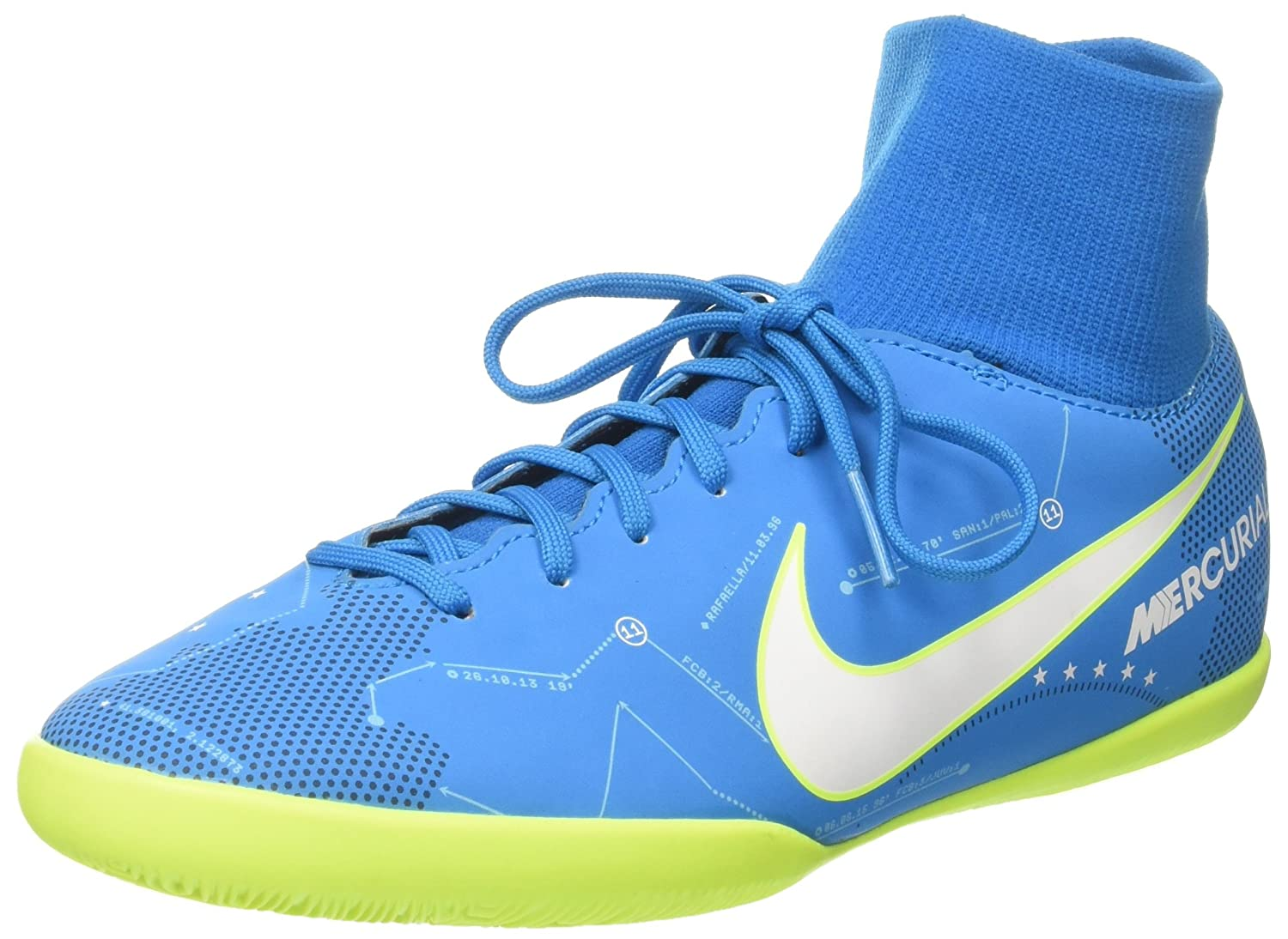 9e0b0b833 Nike Junior Mercurial Victory VI NJR Dynamic Fit TF 4.5 Blue  Amazon ...