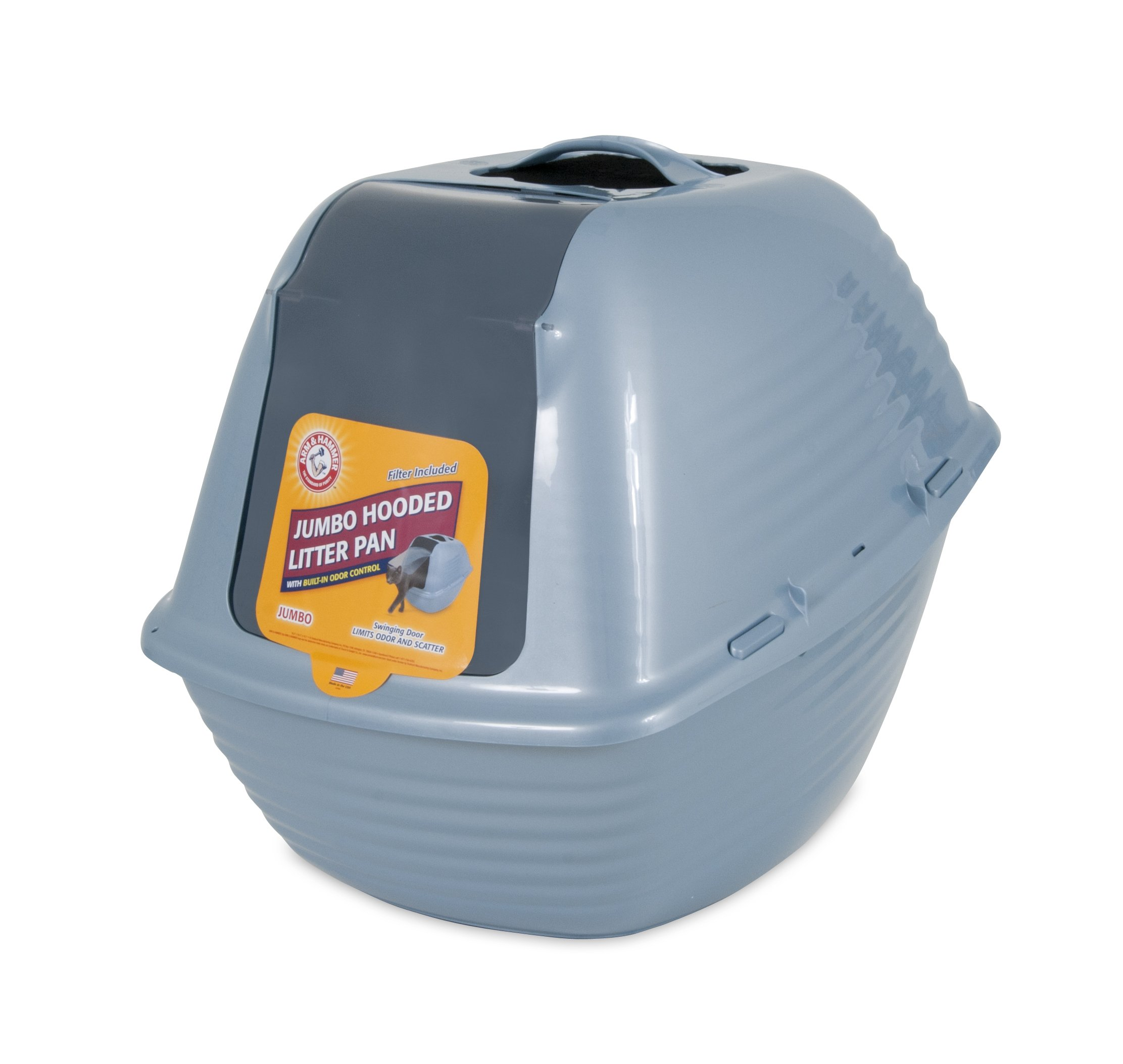 Arm & Hammer 22099 Hooded Litter Pan, Jumbo, Blue