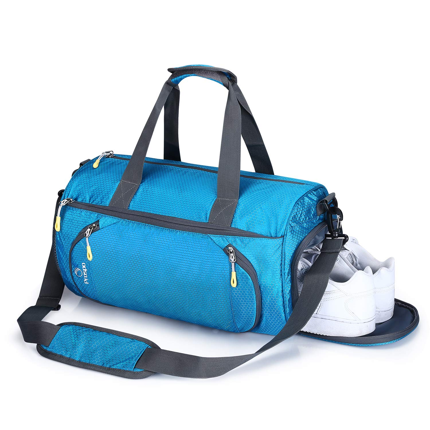 7a469986a652 Prospo Small Duffel Bag Lightweight Gym Bag Weekend Bag Travel Luggage Tote  Bag for Women Men Hand Pack with Shoes Compartment for Sport Outdoors(Blue)