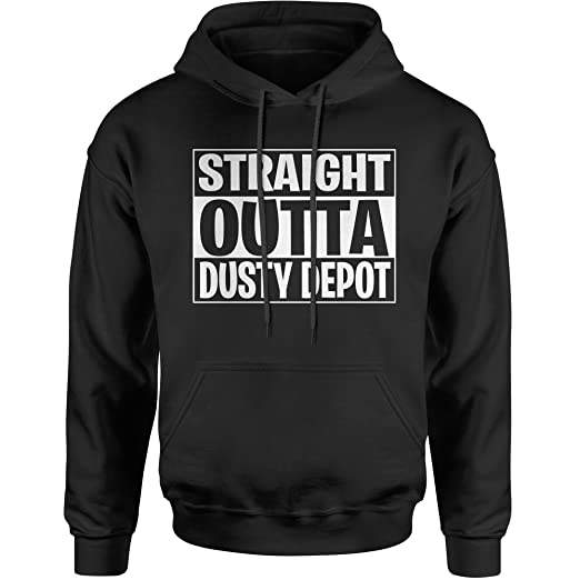 85e251a17b06 FerociTees Hoodie Straight Outta Dusty Depot Fortnight Nite Game Adult  Small Black