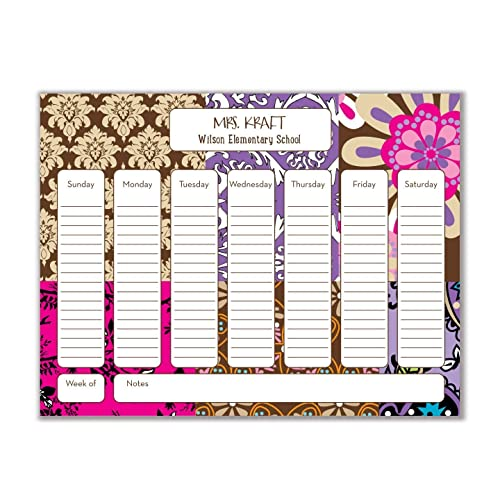 amazon com weekly personalized desk pad planner to do list