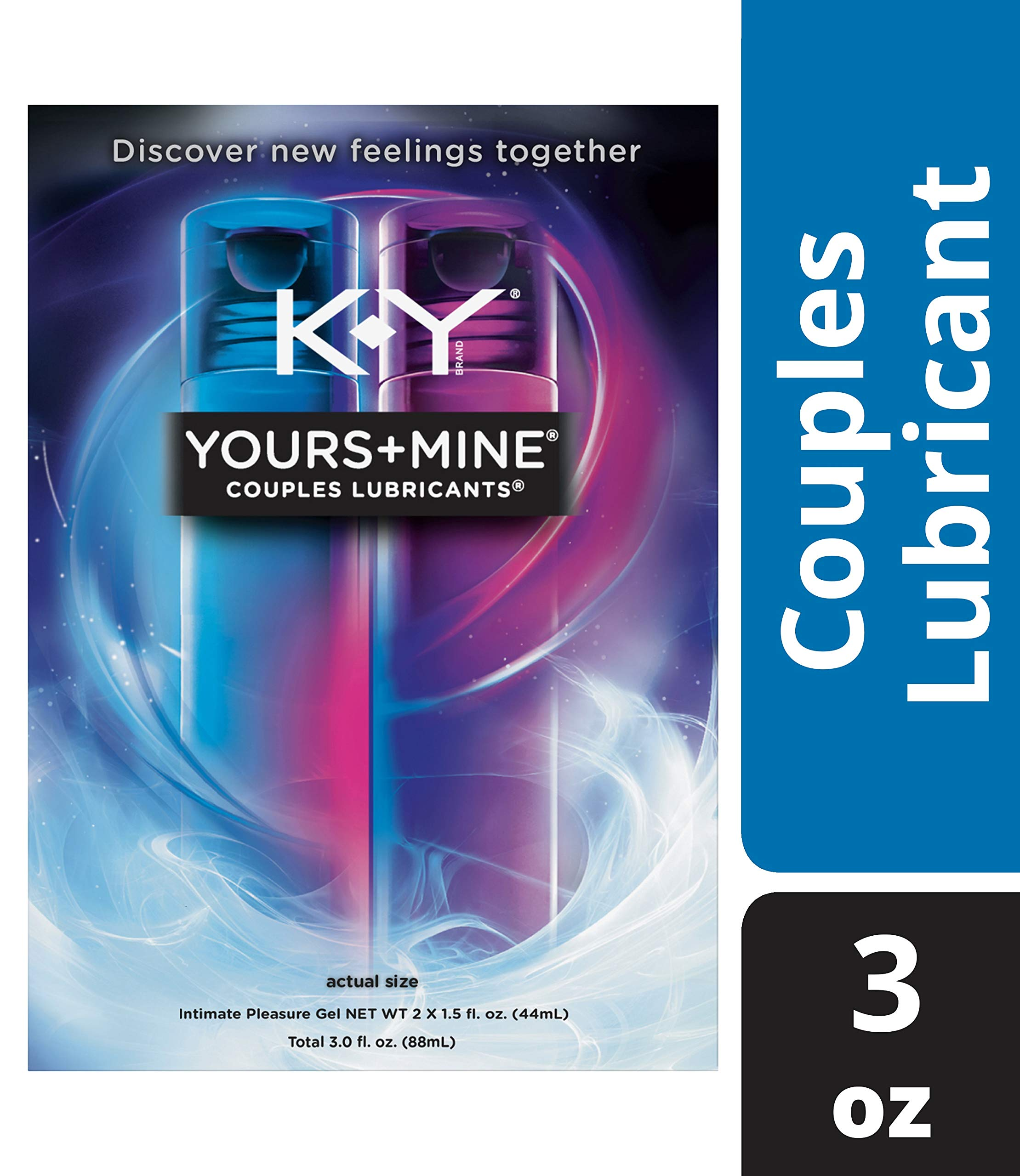 Lubricant for Him and Her, K-Y Yours & Mine Couples Lubricant, 3 oz, Couples Personal Lubricant and Intimate Gel. Sex Lube for Women, Men & Couples. by K-Y