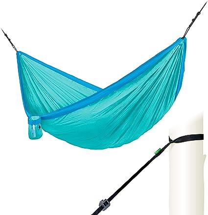 LA SIESTA Colibri Parachute Silk Single Travel Hammock with Integrated Suspension