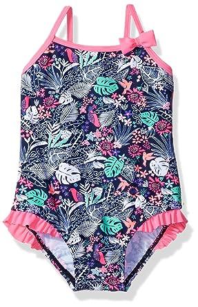 4c3d3f22c18aa Amazon.com  Osh Kosh Girls  Ruffle Hip One Piece Swimsuit  Clothing