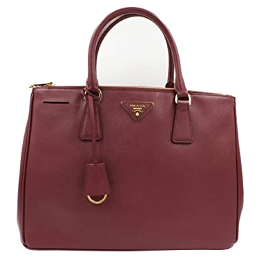 2b0a5d7f46e5 Image Unavailable. Image not available for. Color: Prada 1BA274 Galleria  Cherry Saffiano Leather Women's Convertible Tote Bag