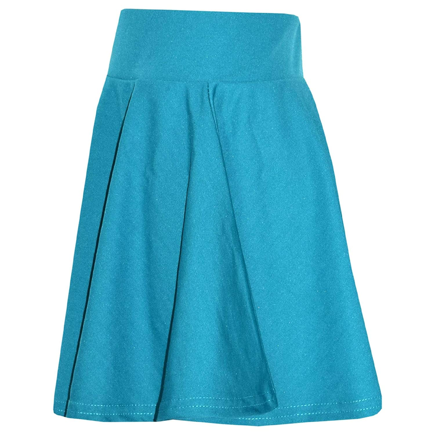 New Girls Skater Skirts School Fashion Summer Plain Skirt 5 6 7 8 9 10 11 12 13Y