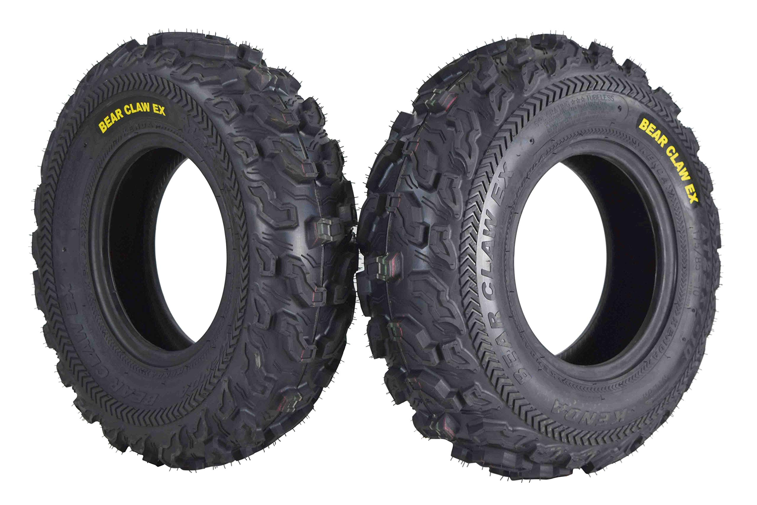 Kenda Bear Claw EX 22x7-10 Front ATV 6 PLY Tires Bearclaw 22x7x10-2 Pack by Kenda