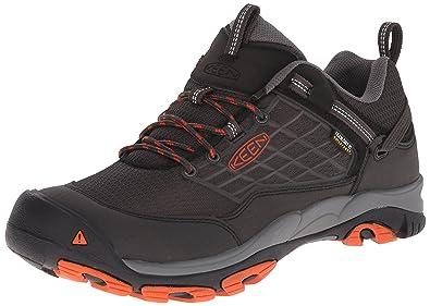 KEEN Men's Saltzman Waterproof Outdoor Shoe, Raven/Koi, ...