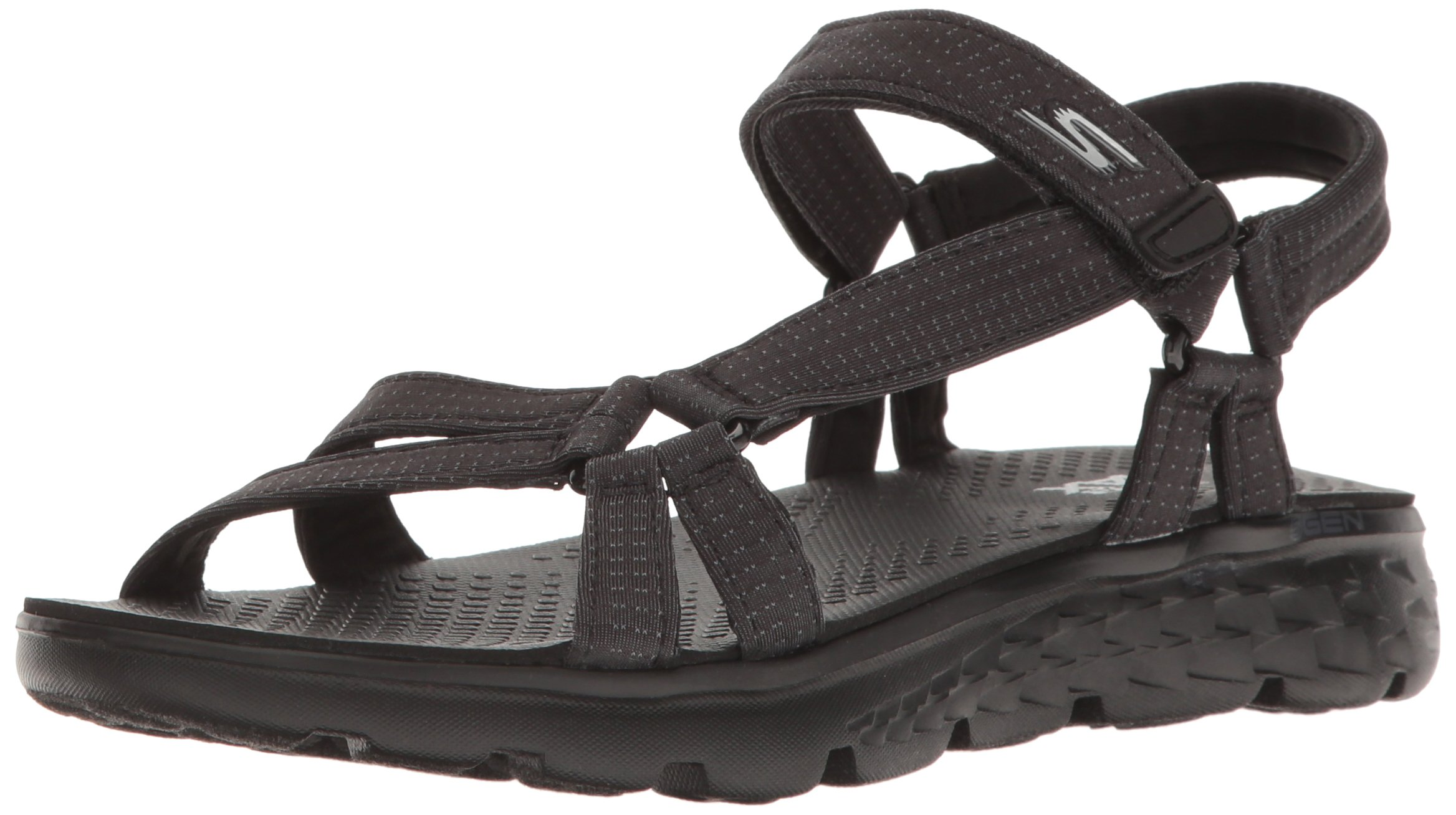 Skechers Performance Women's On The Go 400 Radiance Flip Flop,Black,7 M US