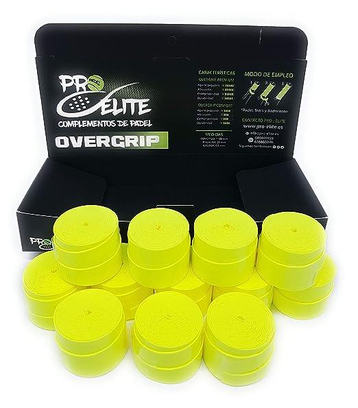 overgrips Pro Elite Premium Liso Amarillo Flúor. Caja 10+2 ...
