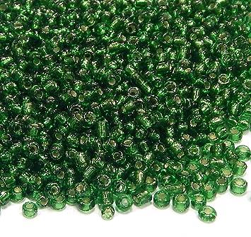 Sonderangebot Rocailles Glas Perlen 2,5 mm grün opak Rocailles 50 g