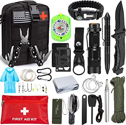First Aid Outdoor Emergency Survival Kit SOS Rescue Hiking Camping Travel Tool