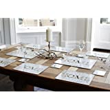 Chocolate Brown 'HOME' Placemats and Coasters Set
