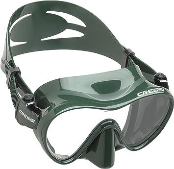 Cressi F1 - Gafas de Buceo sin Marco, Color Verde