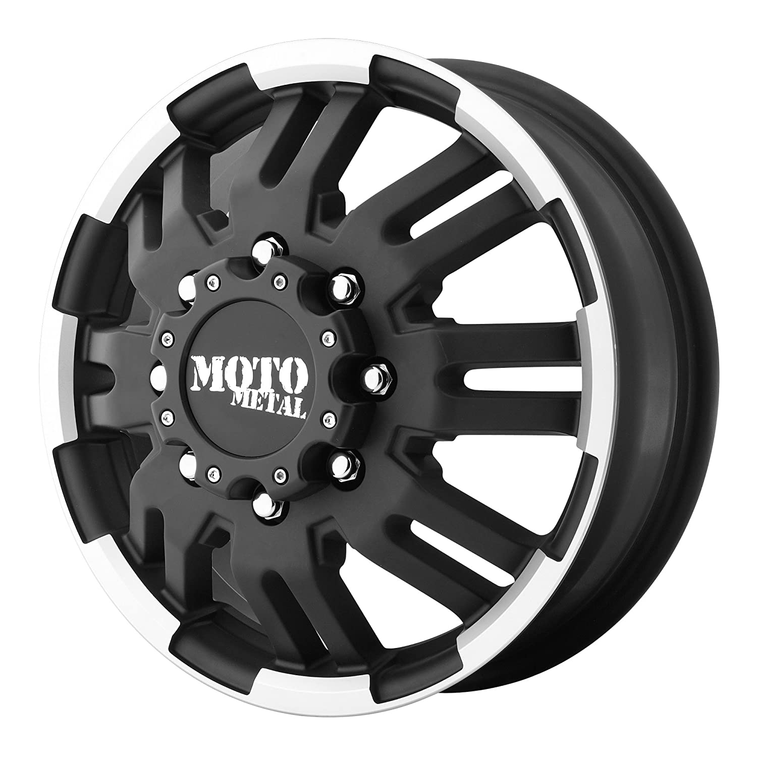 moto metal. amazon.com: moto metal mo963 matte black dually outer wheel with machined accents (16x6\
