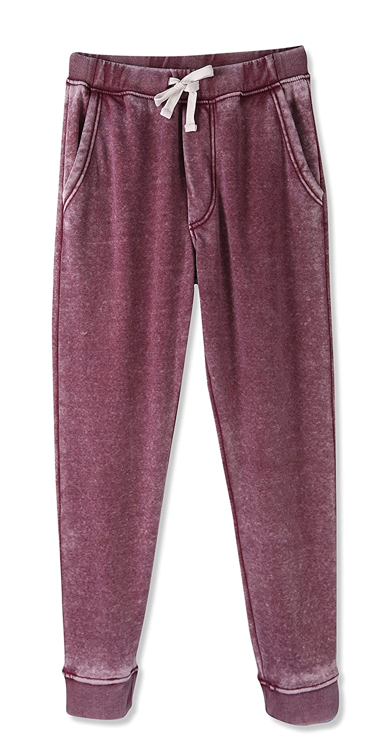 HETHCODE Mens Classic Fit Basic Fleece Closed-Bottom Pocketed Joggers Sweatpants