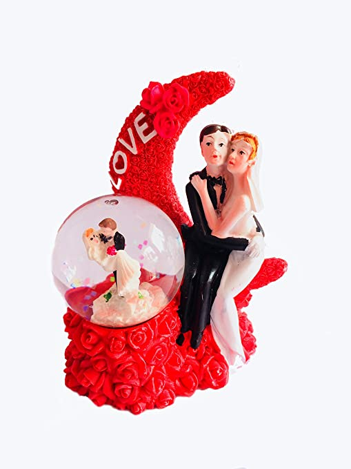 437591402b9d Buy Valentine Gifts Lighting Snow Globe Red Moon Love Romantic Couple