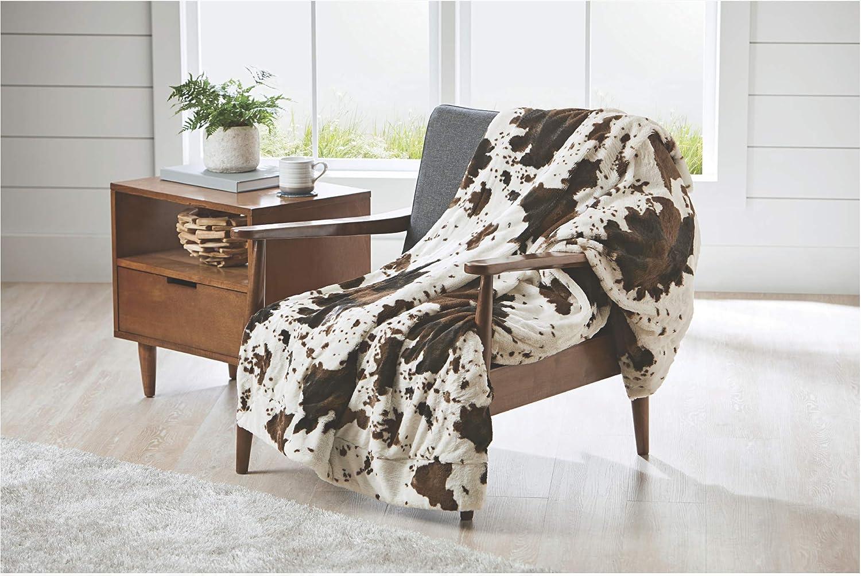 Better Home & Garden Cozy Faux Fur Throw (Cow Hide, 50in X 60in)