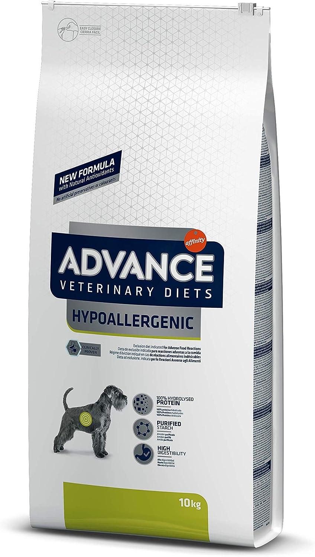 Advance Avance Veterinary Diets Hypoallergenic - Pienso hipoalergénico para Perros con intolerancias alimentarias - 10 kg