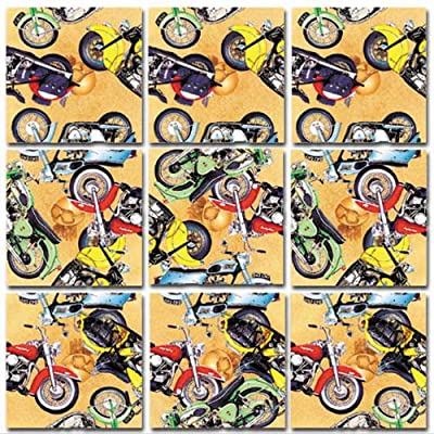 Scramble Squares Motorcycle 9 Piece Challenging Puzzle - Ultimate Brain Teaser and Mind Game for Young and Senior Alike - Engaging and Creative With Beautiful Artwork - By B.Dazzle: Toys & Games