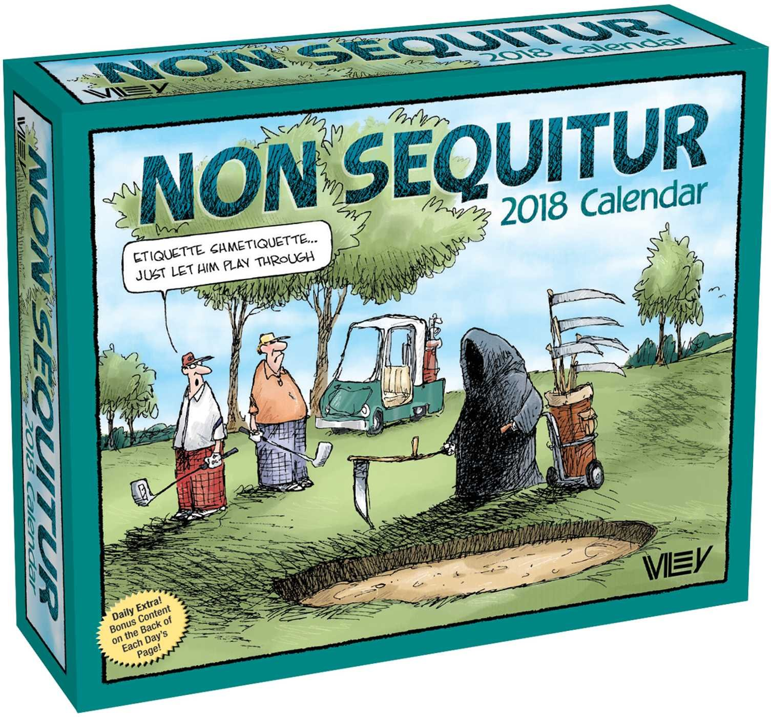 Non Sequitur 2018 Day-to-Day Calendar Calendar – Day to Day Calendar, Jul 25 2017 Wiley Miller Andrews McMeel Publishing 1449482597 Cartoons & Comic Strips