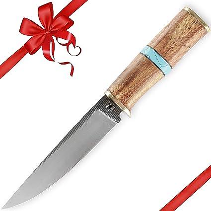 Amazon.com: Hobby Hut HH-311 - Cuchillo de caza hecho a mano ...