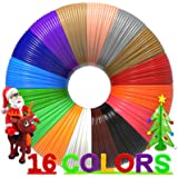 3D Pen Filament 320 Feet, 16 Colors,Each Color 20 Feet, Bonus 250 Stencils eBooks - 3D Printing Pen PLA Filament 1.75mm, High