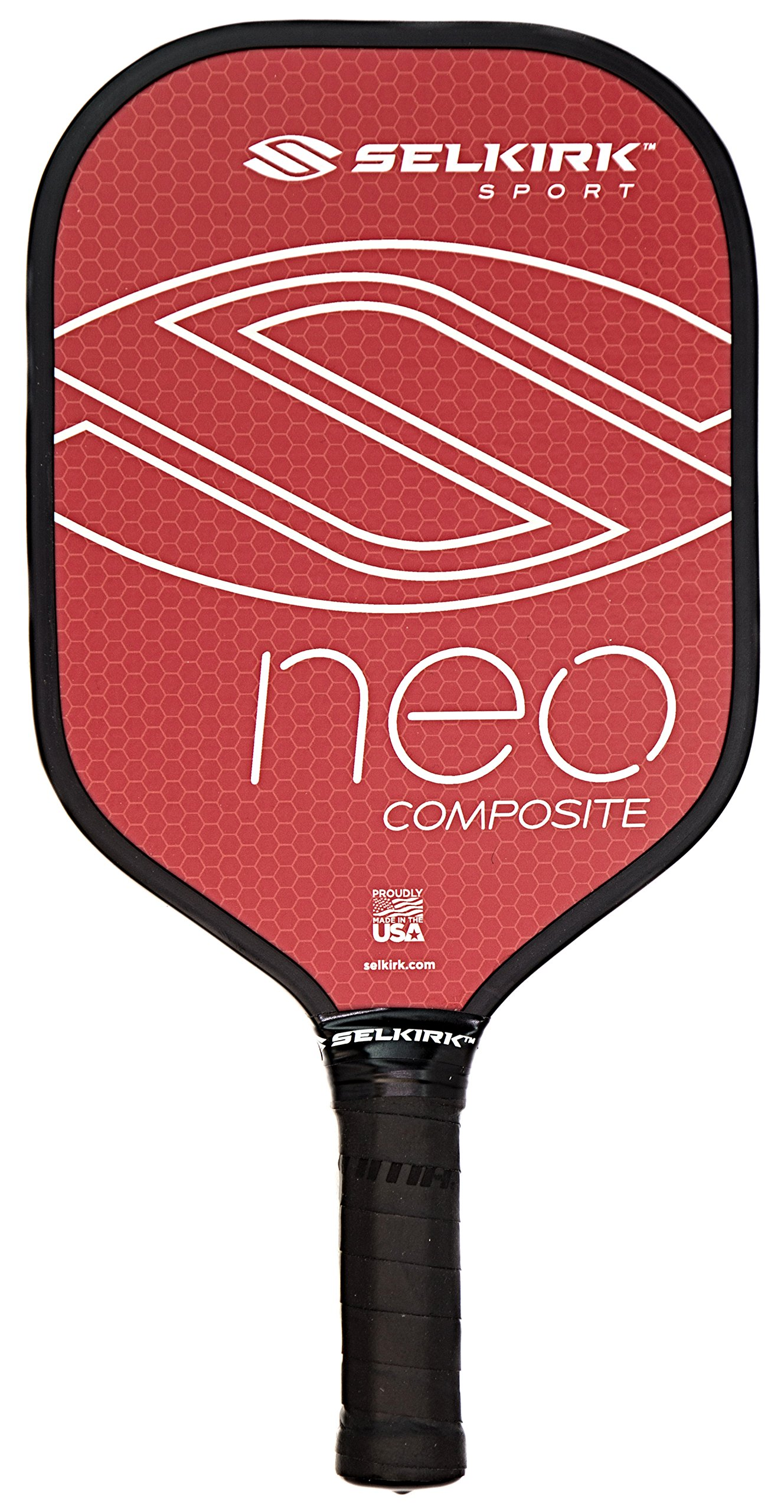 Selkirk NEO Composite Pickleball Paddle - USAPA Approved - PowerCore Polymer Core - Composite Surface - EdgeSentry Protection - ThinGrip Handle - Pickleball Racket/Racquet. (Red) by Selkirk Sport