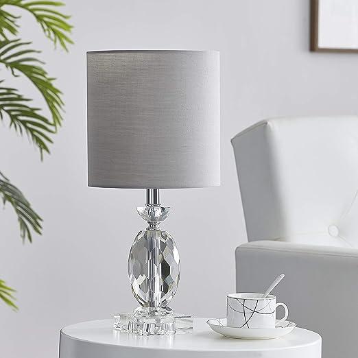 LEEZM Bedside Table Lamp for Living Room, Bedroom, Children Room Crystal Bedside Lamp Night Light Modern Bed Nightstand Lighting Reading Desk Lamps